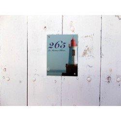 Numéro de rue 15 x 20 cm avec photo de votre choix