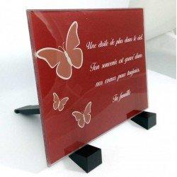 Plaque Funéraire Plexiglass imprimée Papillons