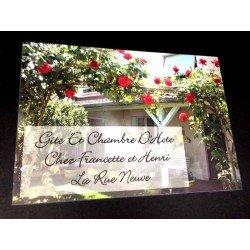 Plaque Chambre/Maison d'Hôtes avec photo à personnaliser