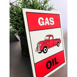 Plaque déco Gas Oil Truck