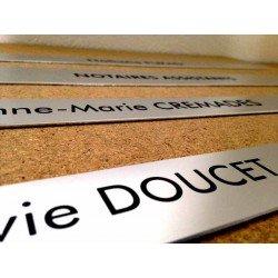 Plaque Aluminium 1.6mm gravée ou imprimée 15x10cm
