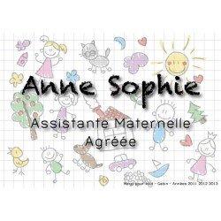 Plaque Assistante Maternelle Dessin
