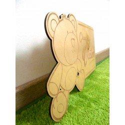 Plaque de Chambre Enfant Bois Girafe