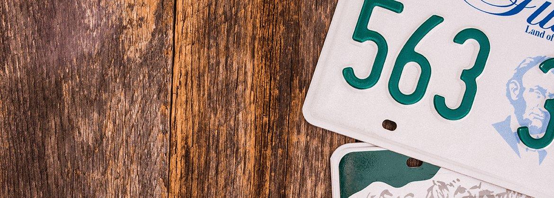 Plaque immatriculation FRANCAISE  AMERICAINE DECO - Numéro minéralogique US