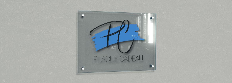 Plaque professionnelle plexiglass à personnaliser - support plexi transparent