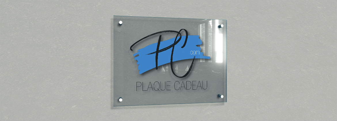 Plaque professionnelle plexiglass à personnaliser - support plexi transparent